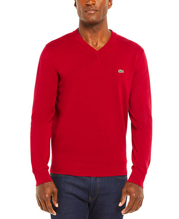 Men's V-Neck Cotton Sweater Lacoste