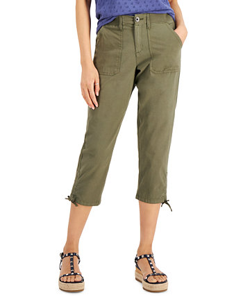 Tie-Cuff Utility Capri Pants, Created for Macy's Style & Co