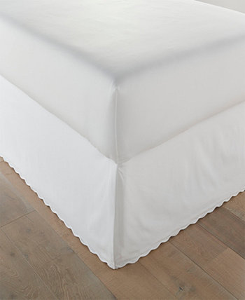 Solid Scallop Tailored King Bedskirt STONE COTTAGE