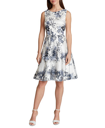 Floral Sequinned A-Line Dress Tahari by ASL