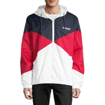 Colorblock Hooded Jacket Members Only