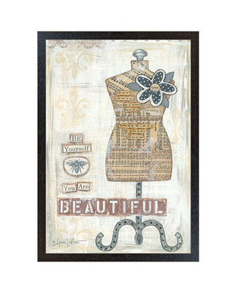 "Beautiful By Annie LaPoint, Printed Wall Art, Ready to hang, Black Frame, 20"" x 14"" Trendy Décor 4U"