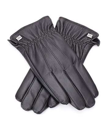 New Mio Marino Men/'s Cold Weather Leather Gloves Button Loop Nappa Leather XL