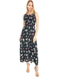 Rose Garden Crepe Midi Dress Nicole Miller