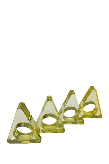 Yellow Triangle Napkin Ring R16 HOME