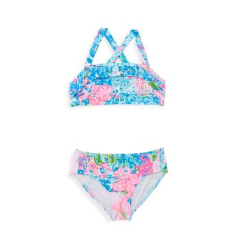 Little Girl's & Girl's Caia Two-Piece Floral Swimsuit Lilly Pulitzer Kids