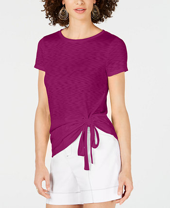 I.N.C Petite Side-Ruched T-Shirt, Created for Macy's INC International Concepts
