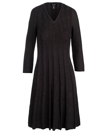 Cable-Knit Sweater Dress Nine West