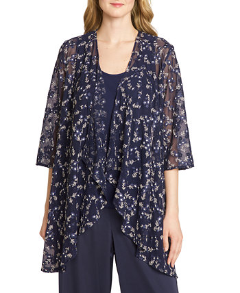 Embroidered Jacket & Camisole Top Tahari by ASL