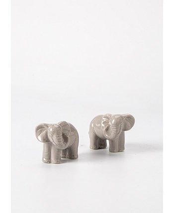 Exotic Escape Elephant Salt & Pepper Shakers, Created for Macy's Martha Stewart Collection