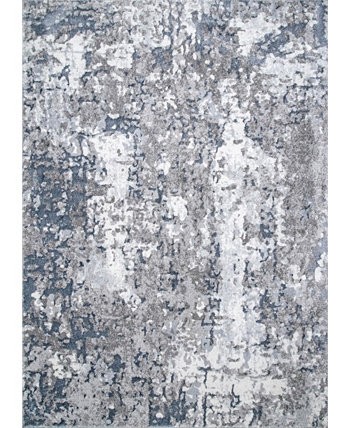 Mitchell Contemporary Abstract Silver 8' x 10' Area Rug NuLOOM