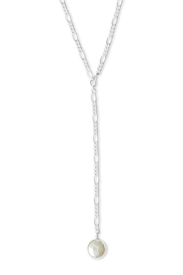 Imitation Coin Pearl Y-Necklace Lucky Brand