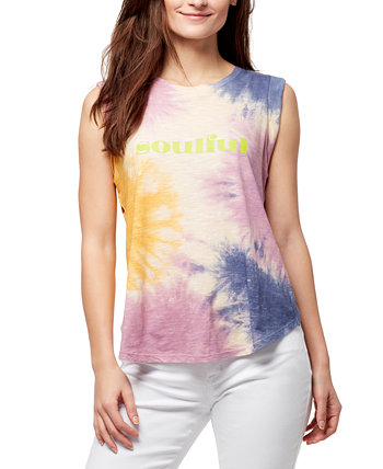Crossover-Back Graphic Tank Top William Rast