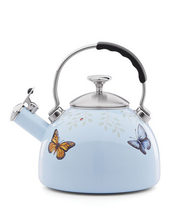 Butterfly Meadow Kitchen  2.5 quart Blue Tea Kettle Lenox