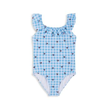Girl's Ruffled Gingham One-Piece Swimsuit Tommy Hilfiger