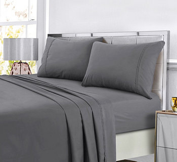 Super Soft Solid DP Easy-Care Extra Deep Pocket Twin Sheet Set Tribeca Living