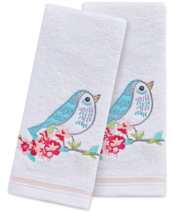 "Spring Bird 2-Pc. 11"" x 18"" Fingertip Towel Set, Created for Macy's Martha Stewart Collection"
