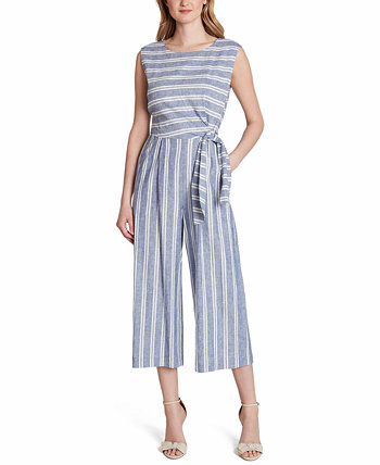 Striped Cropped Jumpsuit, Created for Macy's Tahari by ASL