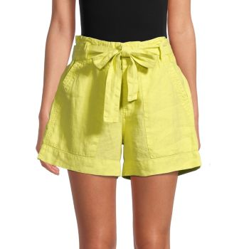 Daynaa Paper Bag Shorts Joie