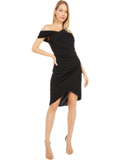 Asymmetrical Matte Jersey Fitted Party Dress ONE33 SOCIAL