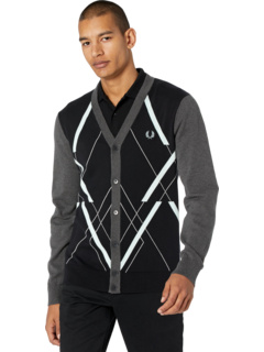 Abstract Argyle Cardigan Fred Perry