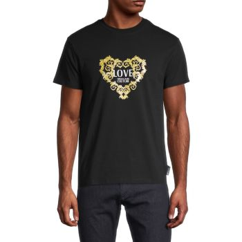 Metallic Logo T-Shirt Versace Jeans Couture