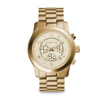 Runway Goldtone Stainless Steel Chronograph Bracelet Watch Michael Kors