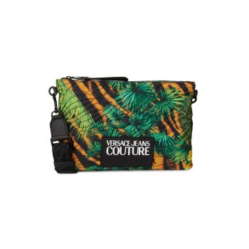 Tropical-Print Logo Patch Crossbody Bag Versace Jeans Couture