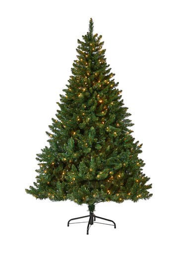 7ft. Northern Rocky Spruce Artificial Christmas Tree with 400 Clear Lights NEARLY NATURAL