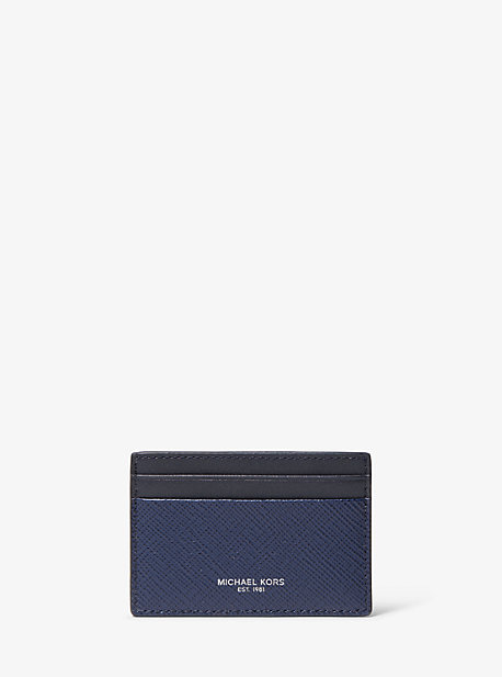 Crossgrain Leather Belt and Card Case Set Michael Kors