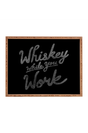 Nick Quintero Whiskey While You Work Rectangular Tray Deny Designs