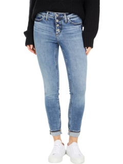 Most Wanted Skinny Leg Jeans with Button Fly L63035EGX229 Silver Jeans Co.