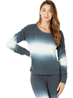 Bliss Knit Shirred Long Sleeve Pullover Chaser