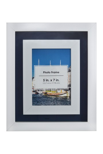 White and Blue Photo Frame PTM Images