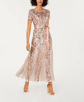 Petite Embellished Illusion Gown R & M Richards