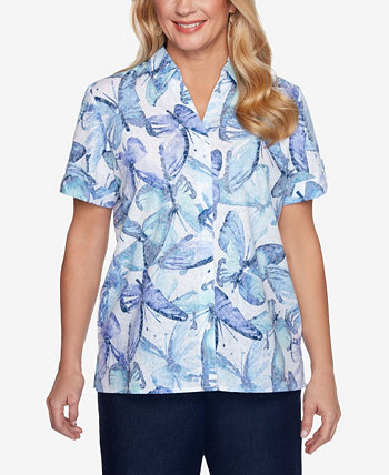 Plus Size Classics S1 Butterfly Burnout Top Alfred Dunner
