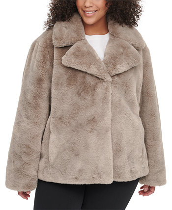 Plus Size Faux-Fur Coat DKNY