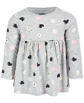 Toddler Girls Long Sleeve Animal Dot Tunic, Created for Macy's First Impressions