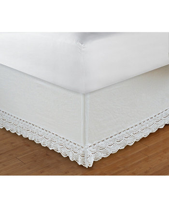 """Crochet Lace Bed Skirt 18"""" Twin Greenland Home Fashions"""