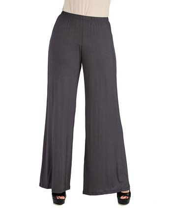 Women's Plus Size Palazzo Pants 24seven Comfort Apparel