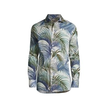 Tropical Printed Sport Shirt Canali