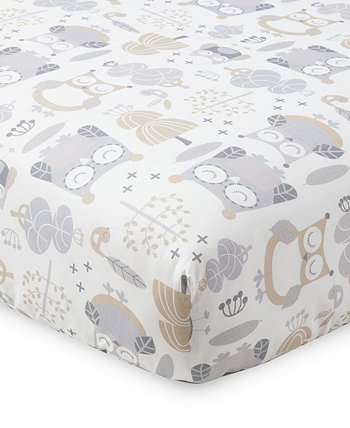 Baby Night Owl Crib Fitted Sheet Levtex