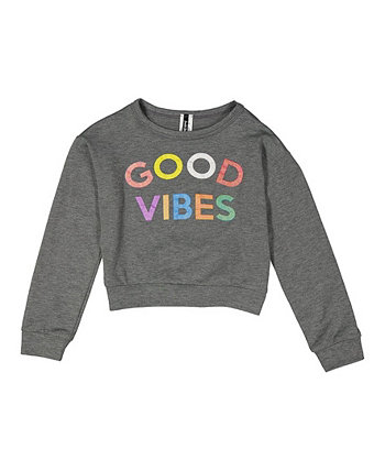 Big Girls Good Vibes Long Sleeve Top One Step Up