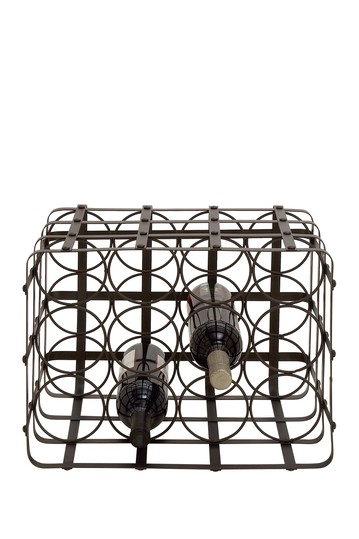 12 Bottle Metal Wine Holder Willow Row