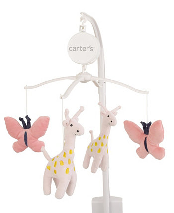 Pretty Giraffes Coral Butterflies Musical Mobile Carters