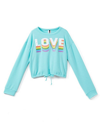 Big Girls Love Long Sleeve Crew Neck Top One Step Up