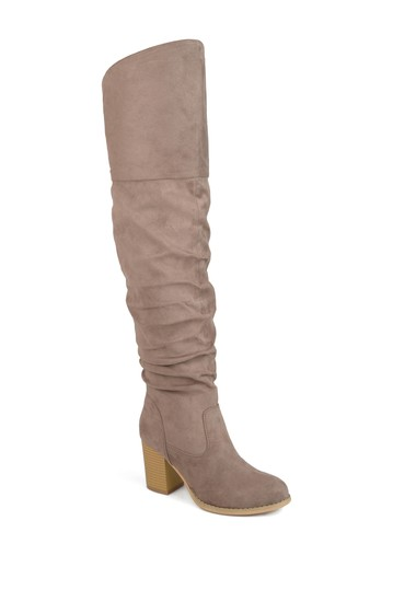 Kaison Ruched Tall Boot - очень широкий теленок Journee Collection