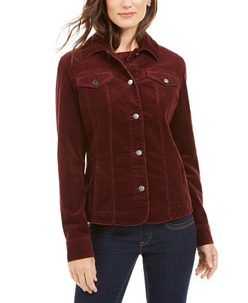 Corduroy Button-Down Jacket, Created for Macy's Charter Club
