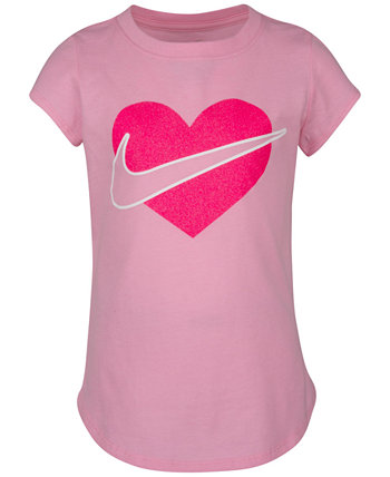 Little Girls Core Heart T-Shirt Nike