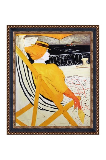 The Passenger in Cabin 54 by Henri de Toulouse-Lautrec Framed Canvas Painting No brands